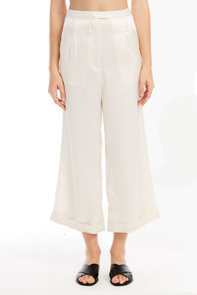 Starry Crop Pants in Stone White