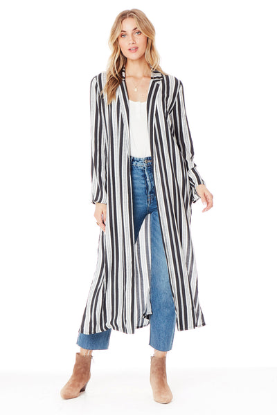 Emery Duster in Ivory Stripe