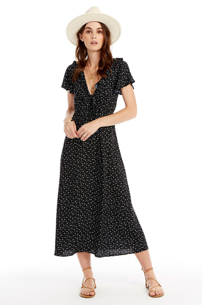 Astoria Midi Dress - Floral Dot in Black