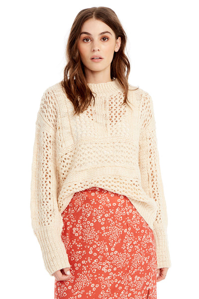 Salty Sweater - Open Weave in White
