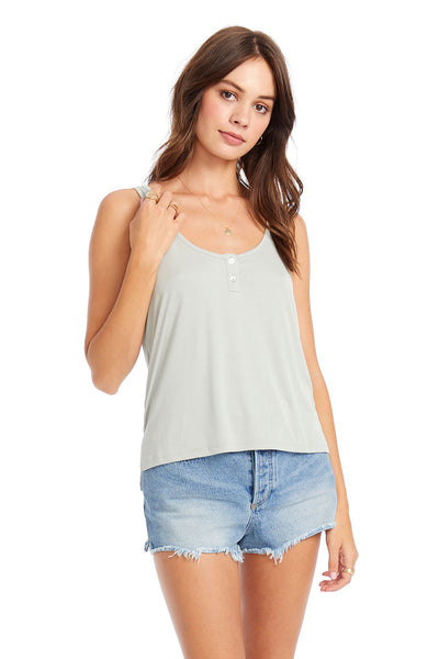 Slim Tank With Front Placket