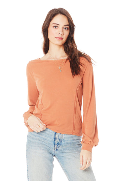 LONG SLEEVE CUFF TOP