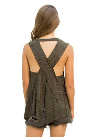 Salty Air Tank Army Stripe