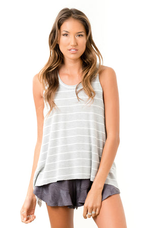 Salty Air Tank Grey Stripe