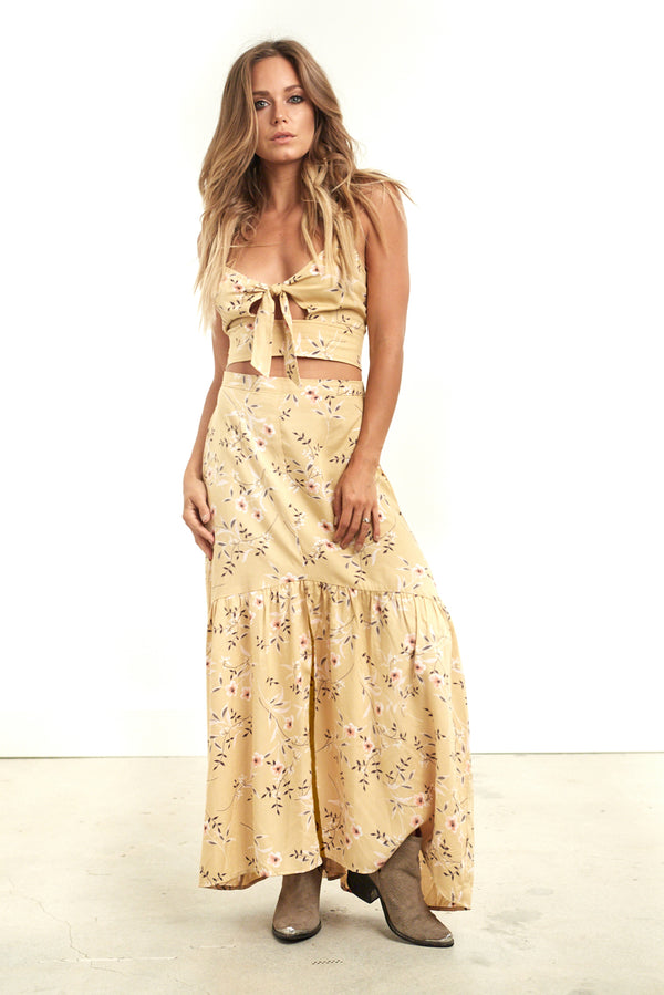 Coco Maxi Skirt Floral