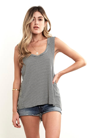 Highway Tank Textured Stripe