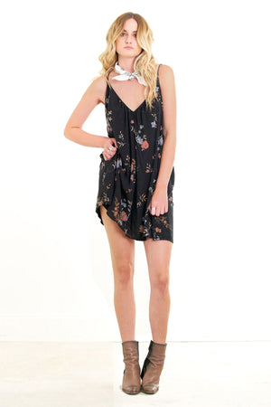 Weekender Mini Dress Black Floral
