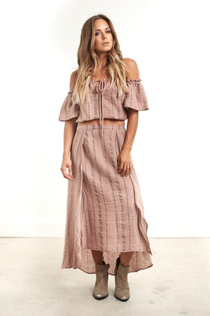 Haven Midi Skirt Stripe
