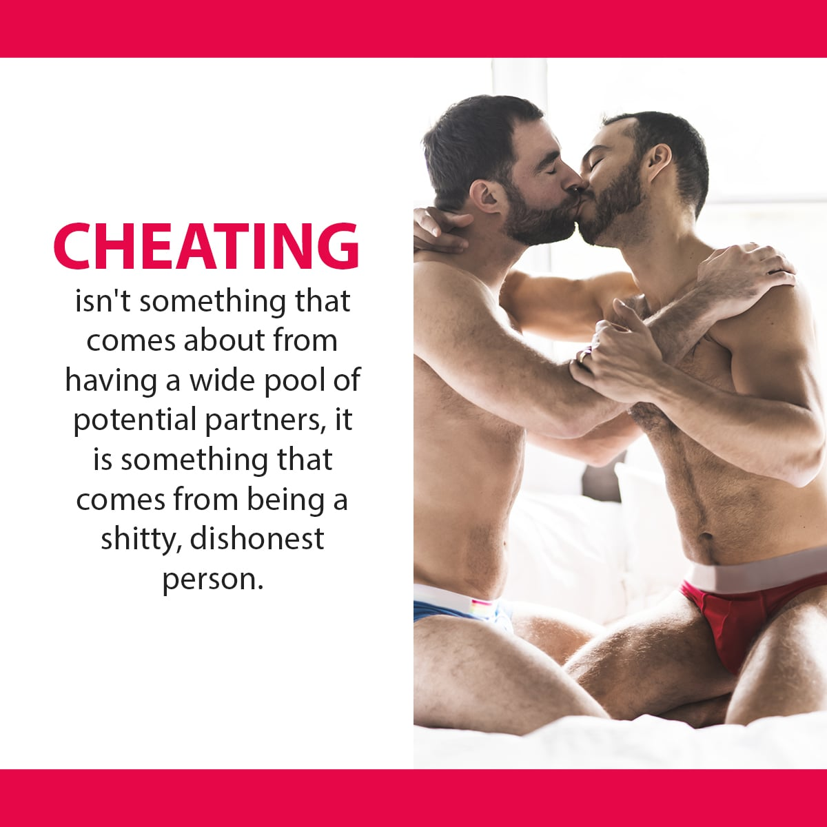 Cheating gay bisexual guy