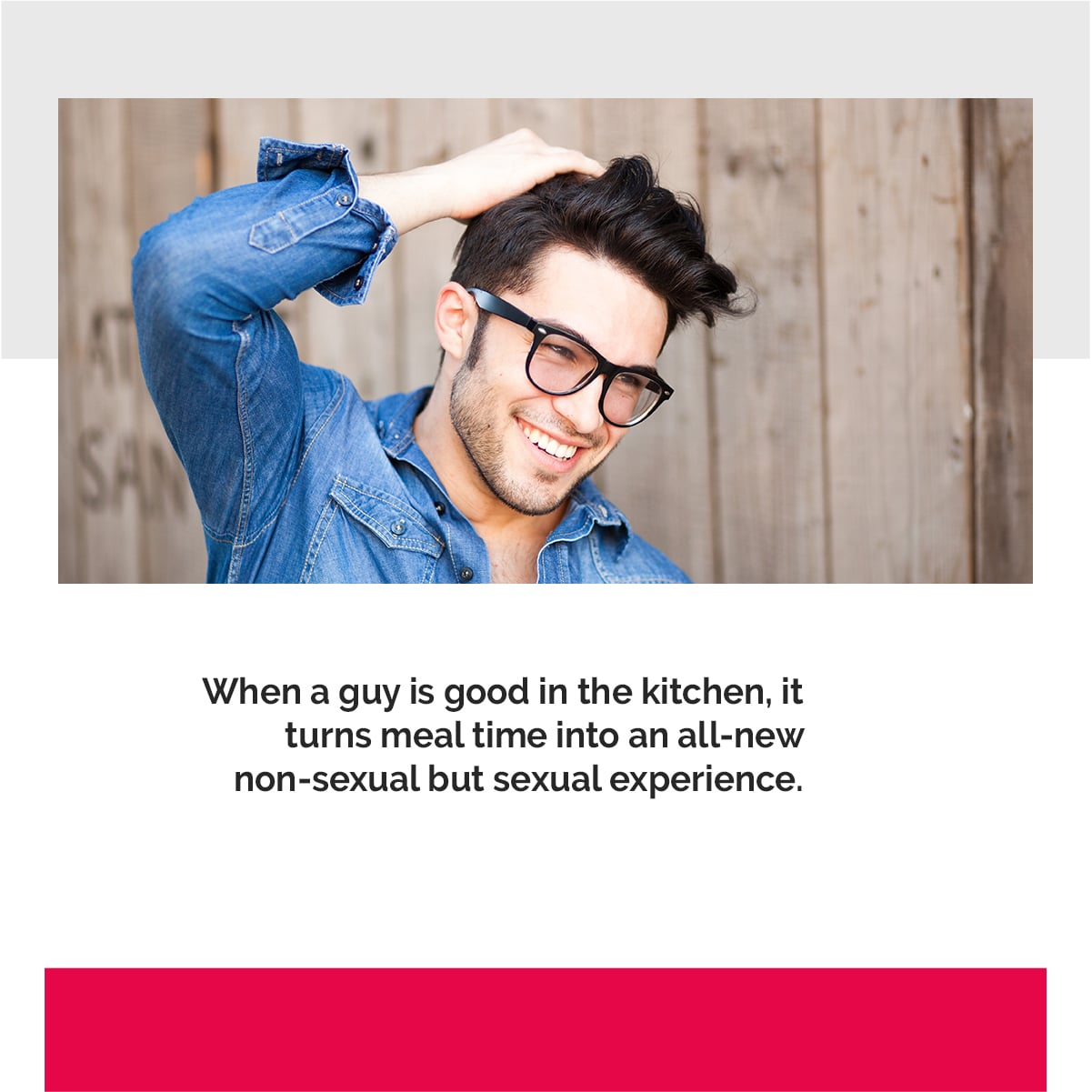 When a guy knows how to cook