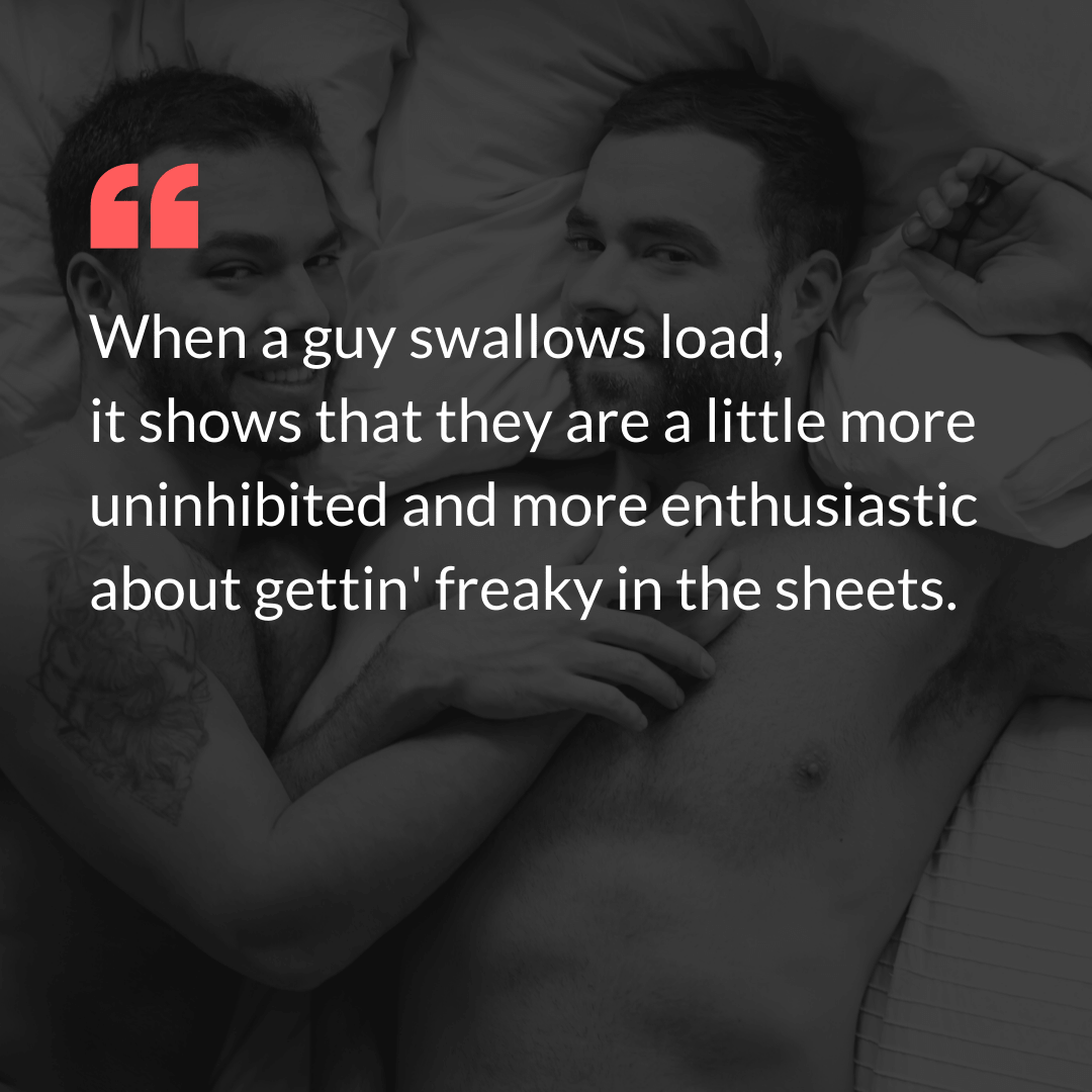 Enthusiastic Lover Swallowing