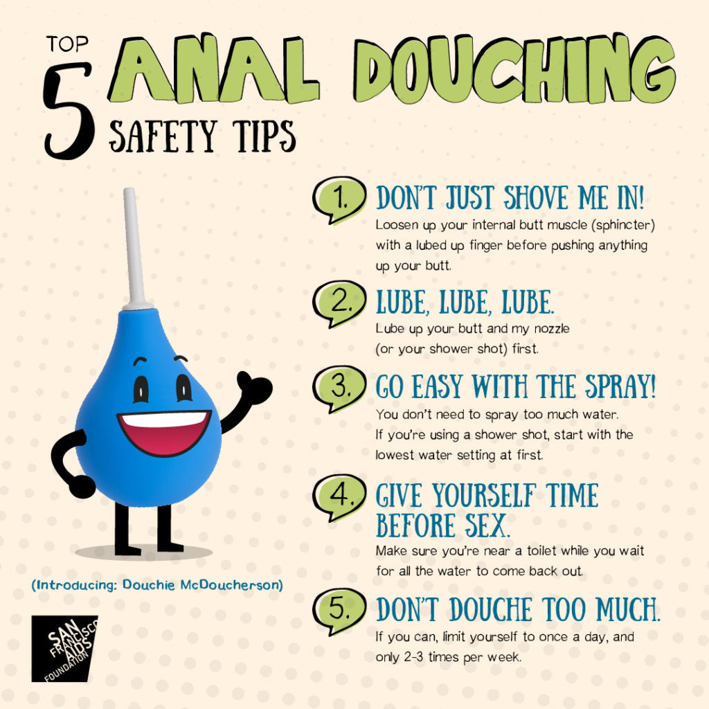 anal douching tips