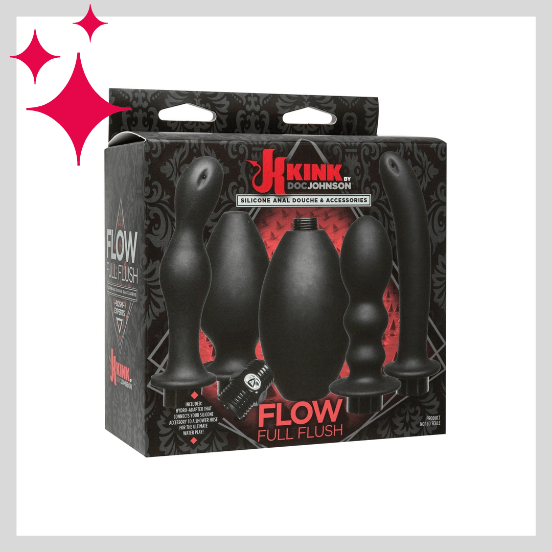 Kink Flow Flush Silicone Anal Douche & Accessories