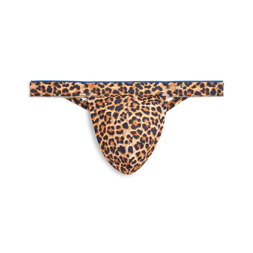2XIST Sliq Micro 1 Y-Back Thong Cheetah - Gay Men's Sex Toys - Adam's Toy Box