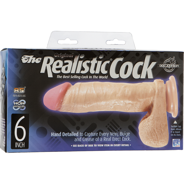 6 Inch Realistic Dildo - Gay Men's Sex Toys - Adam's Toy Box
