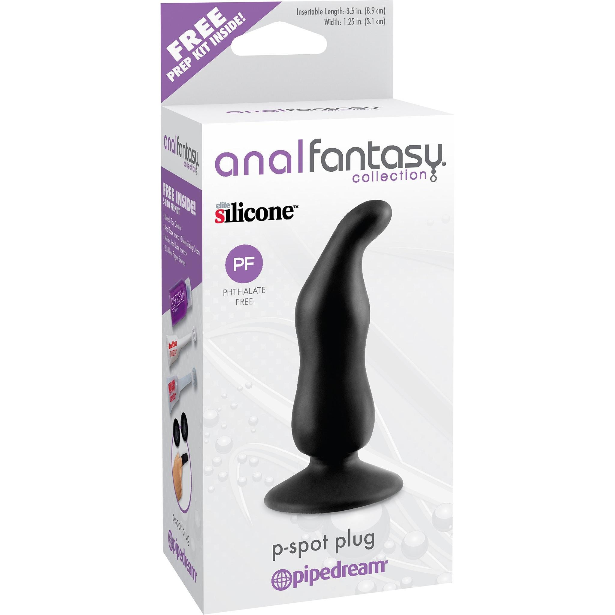 Anal Fantasy Collection P Spot Plug + FREE 5-Piece Prep Kit - Gay Men's Sex Toys - Adam's Toy Box