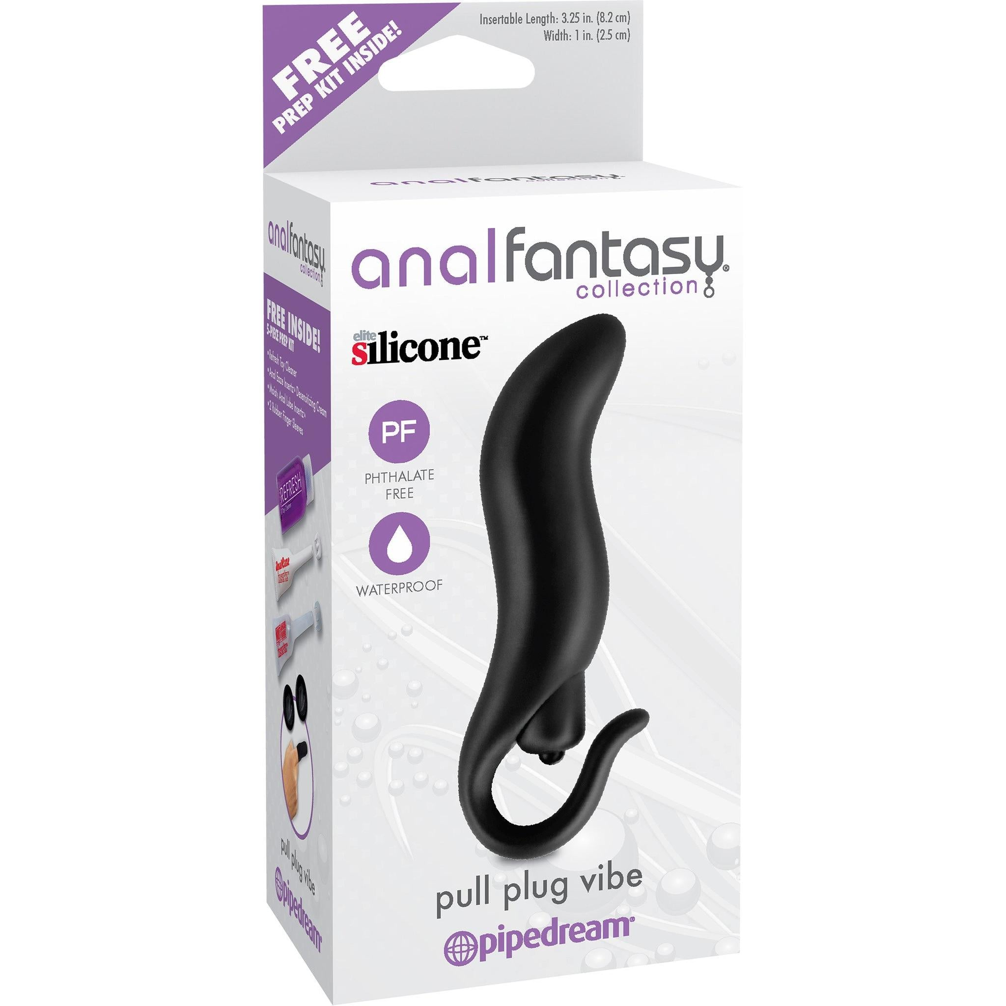 Anal Fantasy Pull Plug Vibe - Includes FREE 5-Piece Prep Kit - Gay Men's Sex Toys - Adam's Toy Box