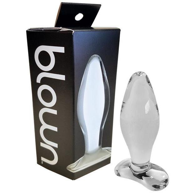 Blown Glass Butt Plug - Gay Men's Sex Toys - Adam's Toy Box