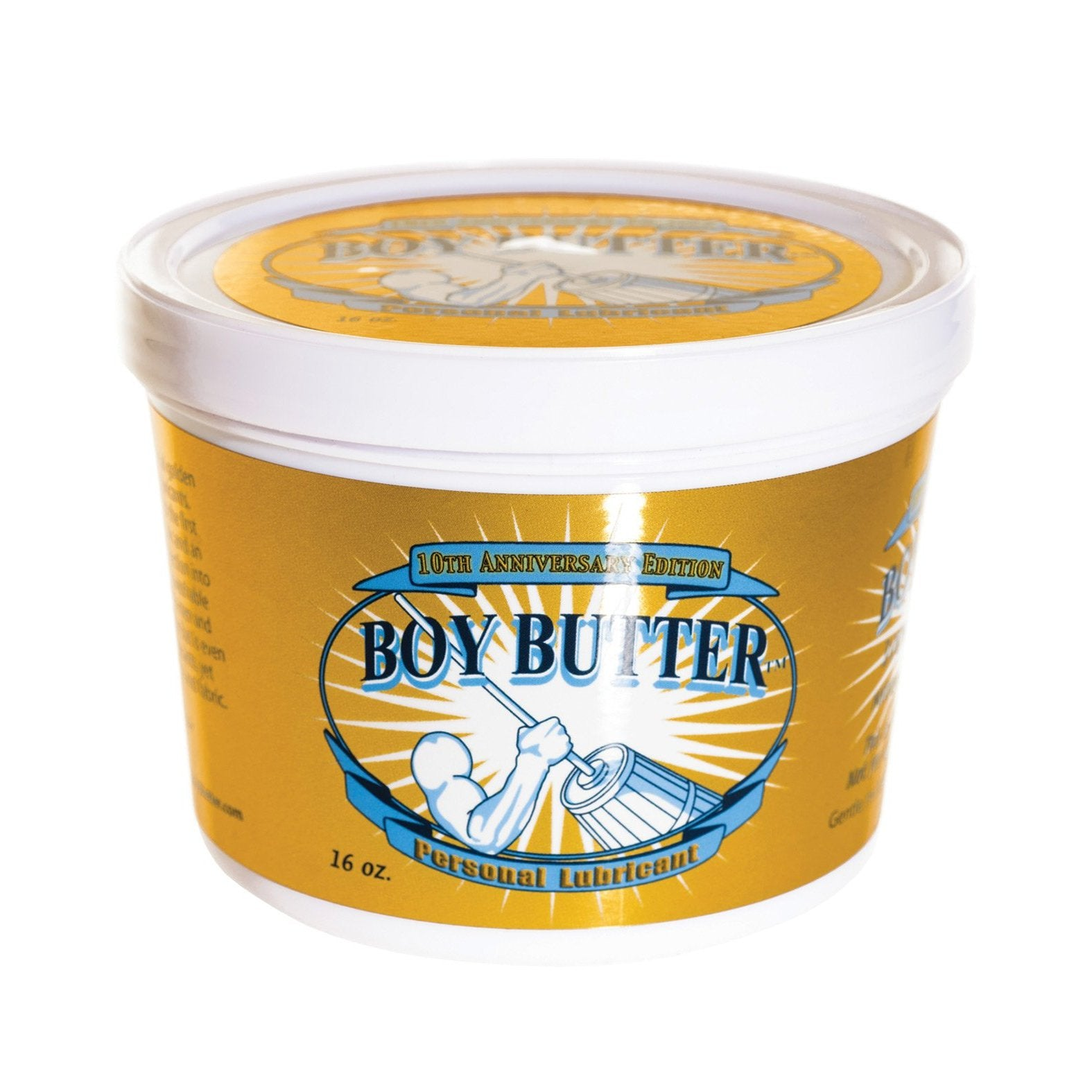 Boy Butter Gold - 16 oz Tub - Gay Men's Sex Toys - Adam's Toy Box