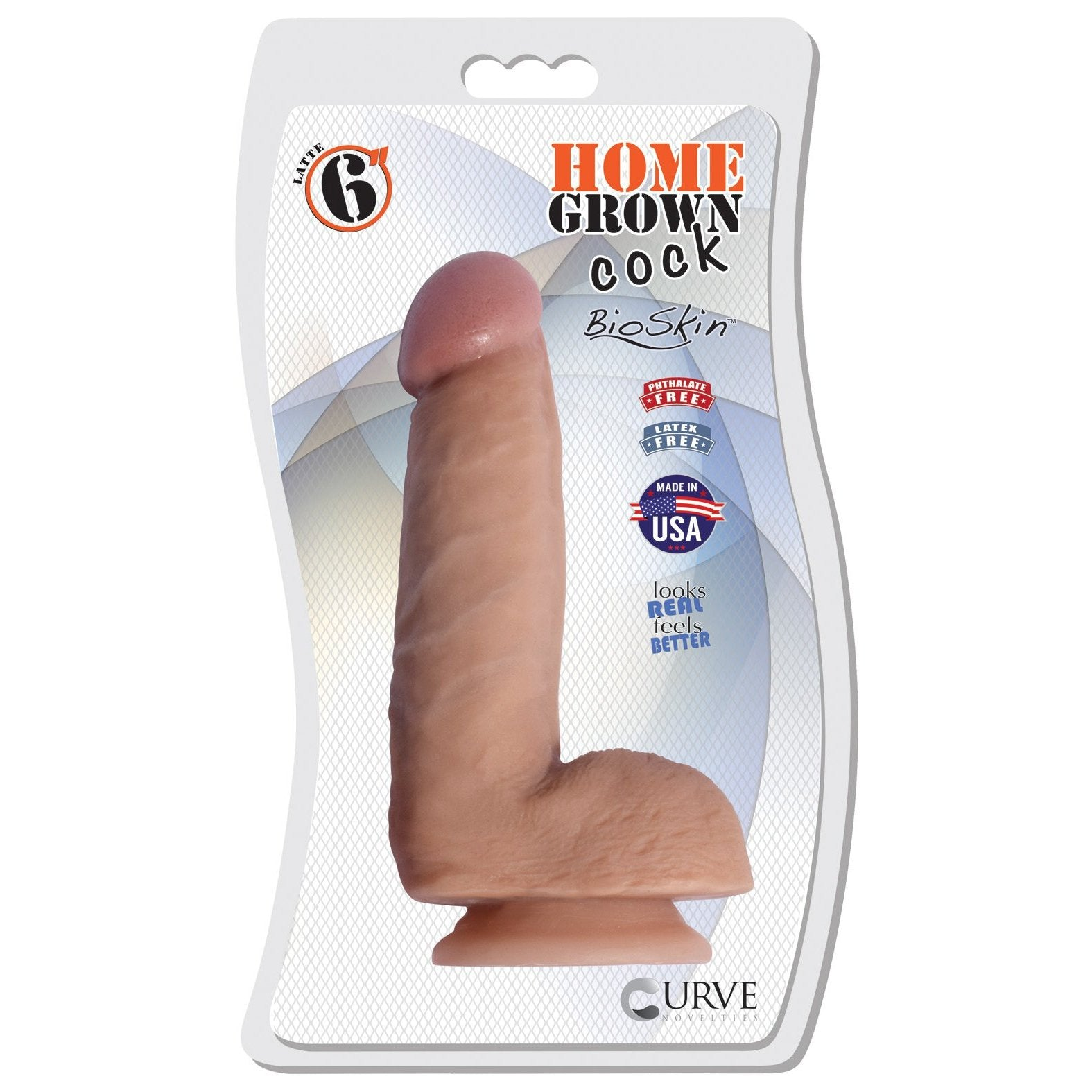 "Curve Novelties Home Grown 6"" BioSkin Dildo - Gay Men's Sex Toys - Adam's Toy Box"