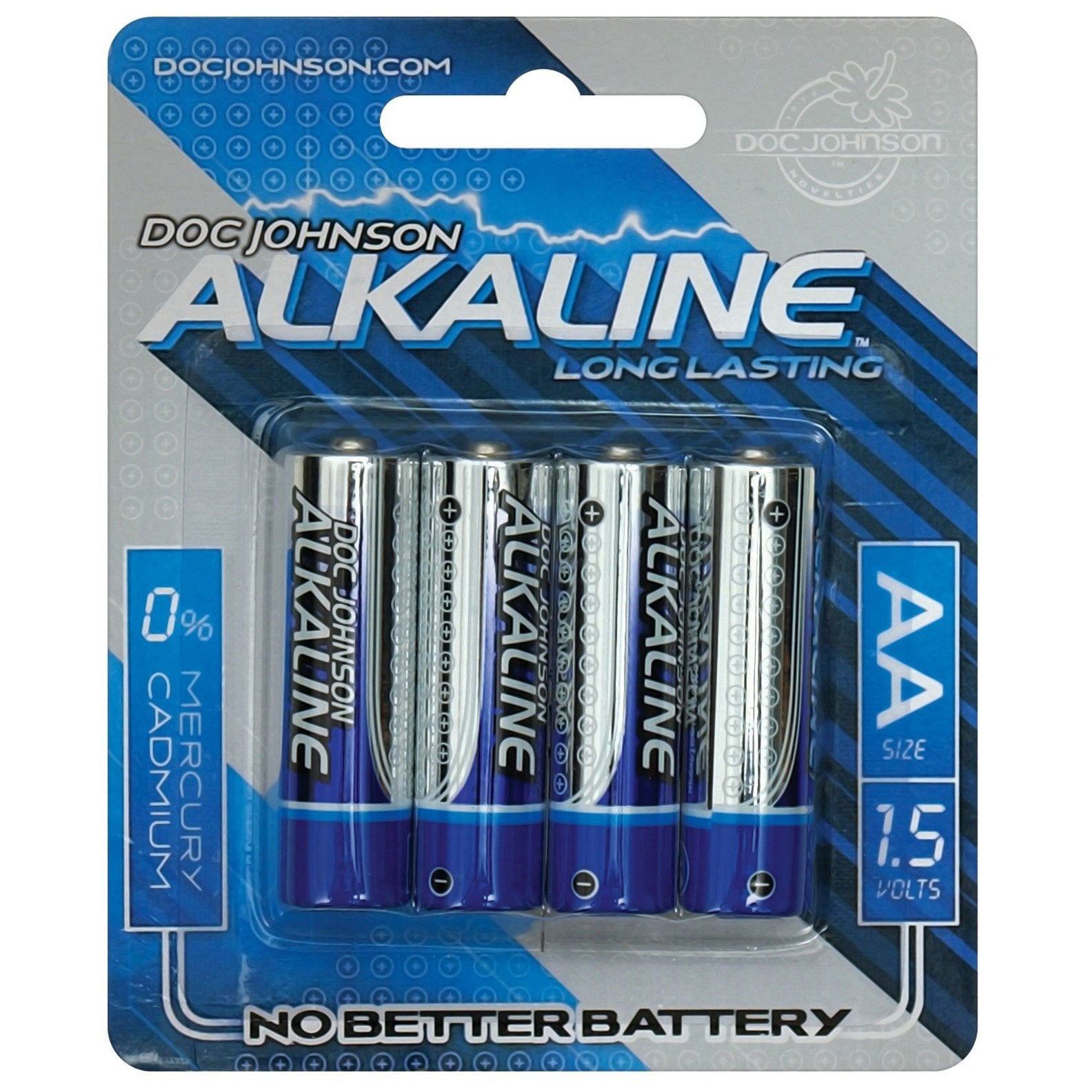 Doc Johnson Alkaline Batteries AA - 4 Pack - Gay Men's Sex Toys - Adam's Toy Box
