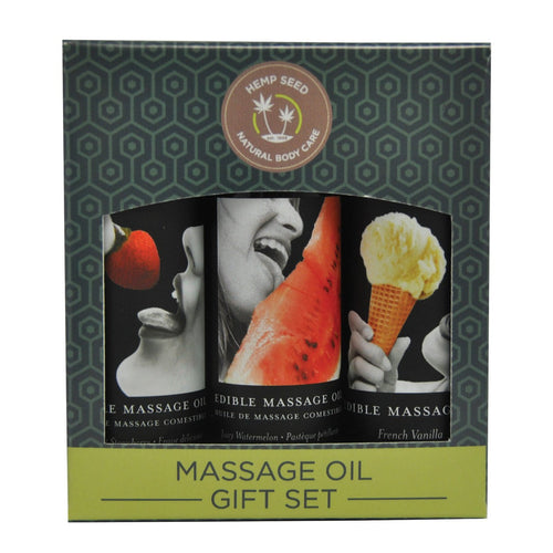 Earthly Body Edible Massage Oil Gift Set - Gay Men's Sex Toys - Adam's Toy Box