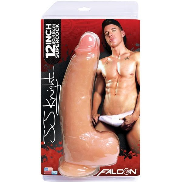"Falcon 12"" Supercocks Signature Dildo - JJ Knight - Gay Men's Sex Toys - Adam's Toy Box"