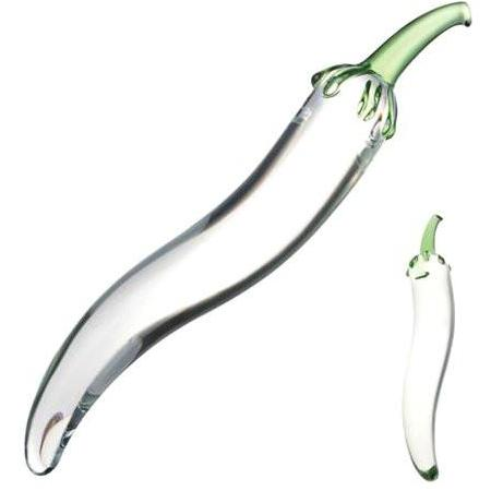 Glas Glass Naturals Chili Pepper Dildo - Gay Men's Sex Toys - Adam's Toy Box