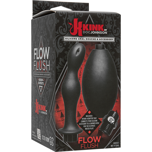 Kink Flow Flush Silicone Anal Douche & Accessories - Gay Men's Sex Toys - Adam's Toy Box