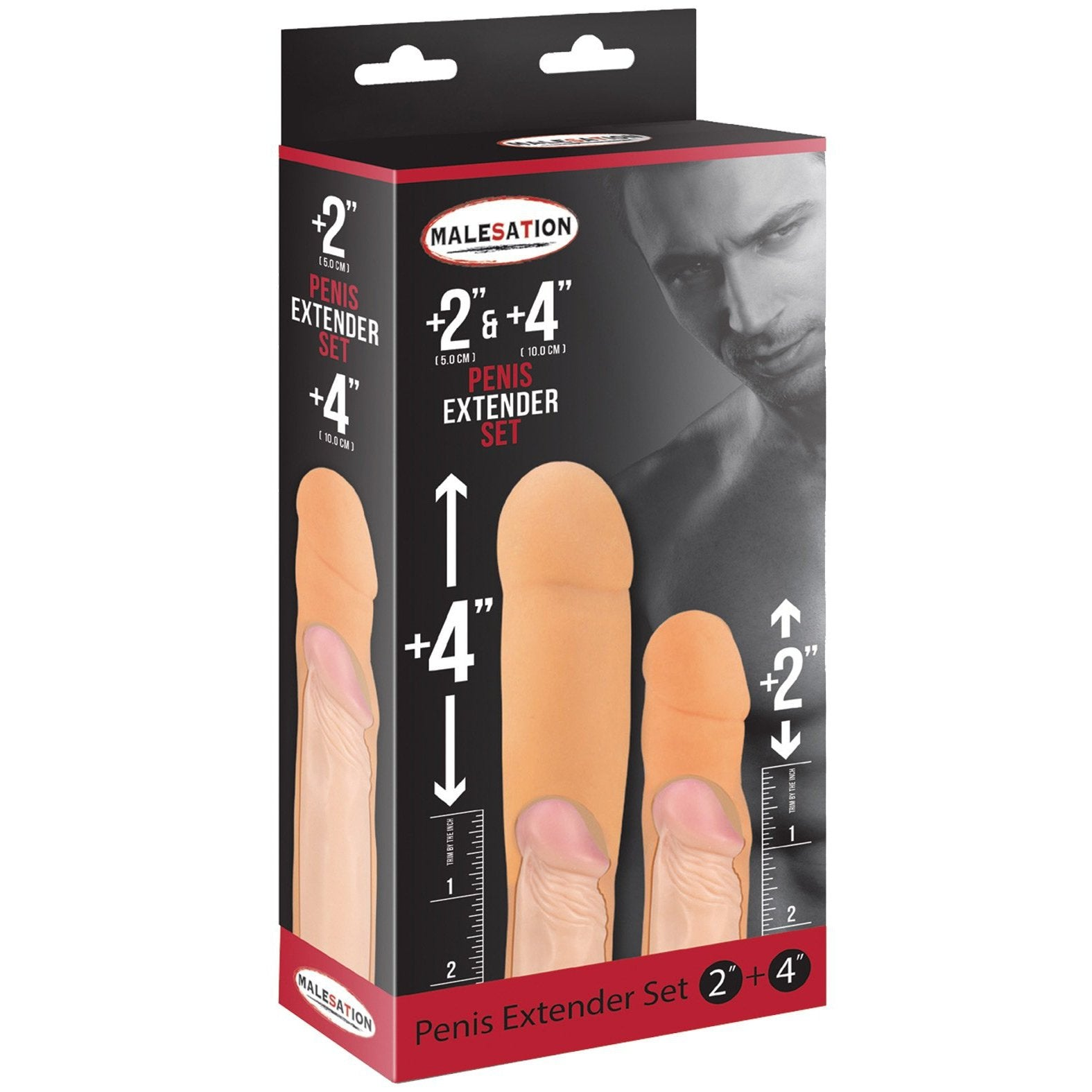 "Malesation 2"" & 4"" Penis Extenders - Gay Men's Sex Toys - Adam's Toy Box"