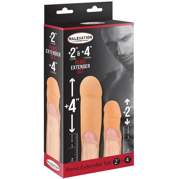"Malesation 2"" & 4"" Penis Extenders-Adam's Toy Box"