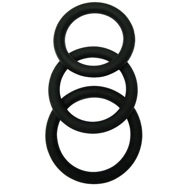Malesation Cock Ring Set - Pack Of 3-Adam's Toy Box