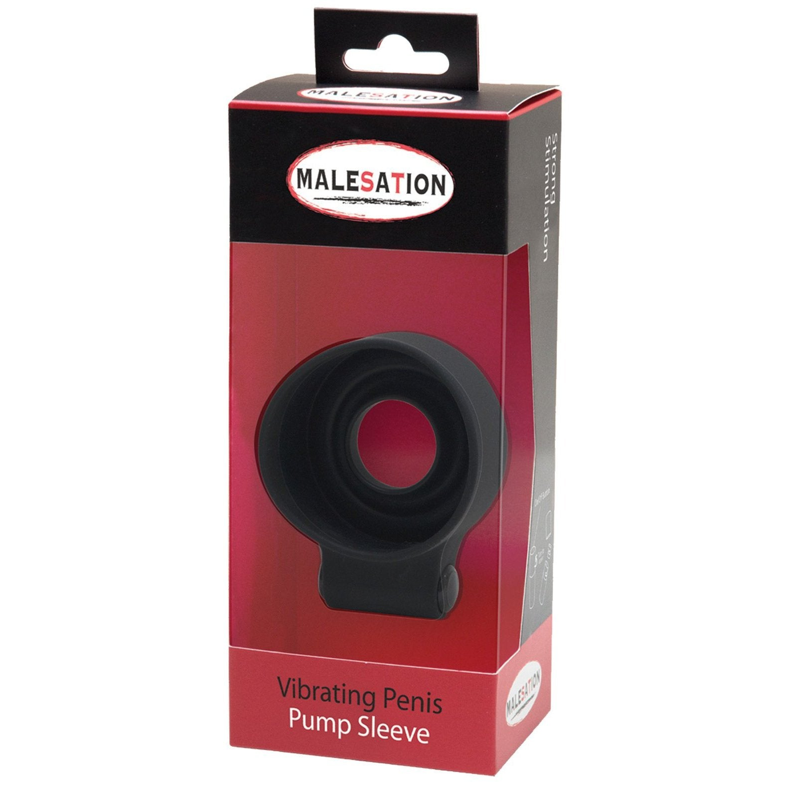 Malesation Vibrating Penis Pump Sleeve - Gay Men's Sex Toys - Adam's Toy Box