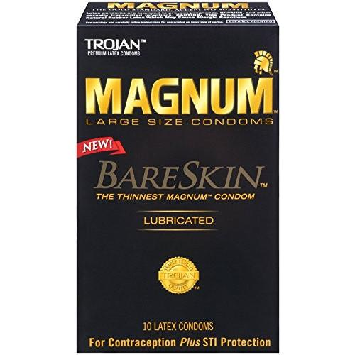 New Trojan Magnum Bareskin Condoms - Box of 10 - Gay Men's Sex Toys - Adam's Toy Box