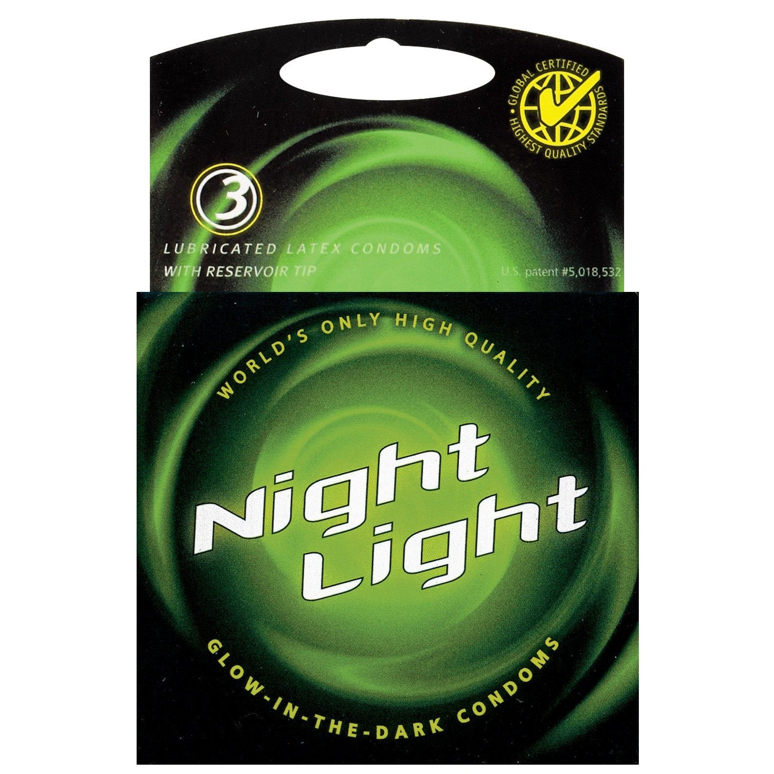 Night Light Glow in the Dark Condom - Box of 3-Adam's Toy Box