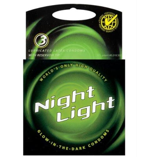 Night Light Glow in the Dark Condom - Box of 3 - Gay Men's Sex Toys - Adam's Toy Box