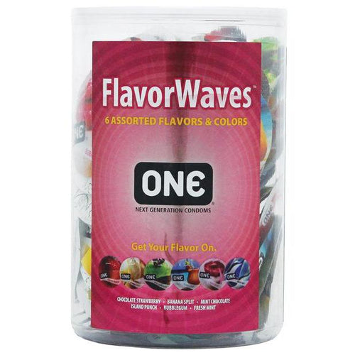 One Condoms Flavor Waves - 100 Pack - Gay Men's Sex Toys - Adam's Toy Box