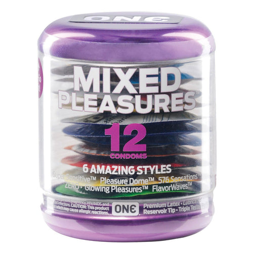 ONE Mixed Pleasures Condoms - Jar of 12 - Gay Men's Sex Toys - Adam's Toy Box
