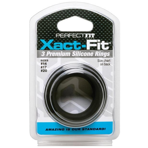 Perfect Fit Xact Fit 3 Ring Kit - Gay Men's Sex Toys - Adam's Toy Box