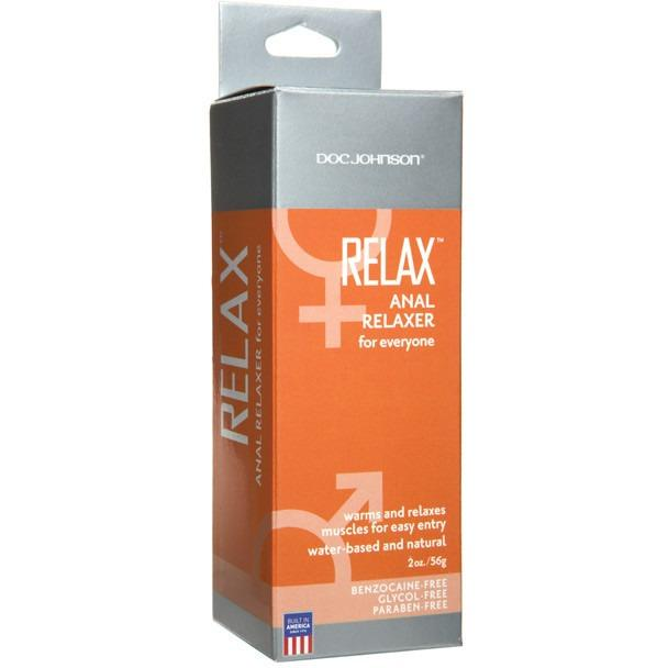 Relax Anal Relaxer - 2 oz Tube - Gay Men's Sex Toys - Adam's Toy Box