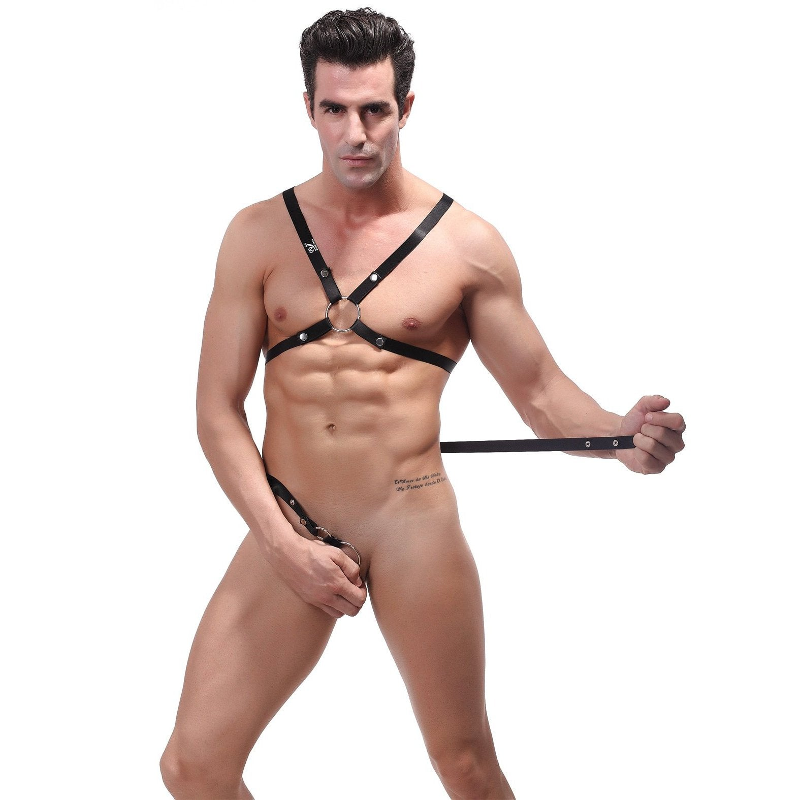Rip off Harness Set Black O/S - Gay Men's Sex Toys - Adam's Toy Box