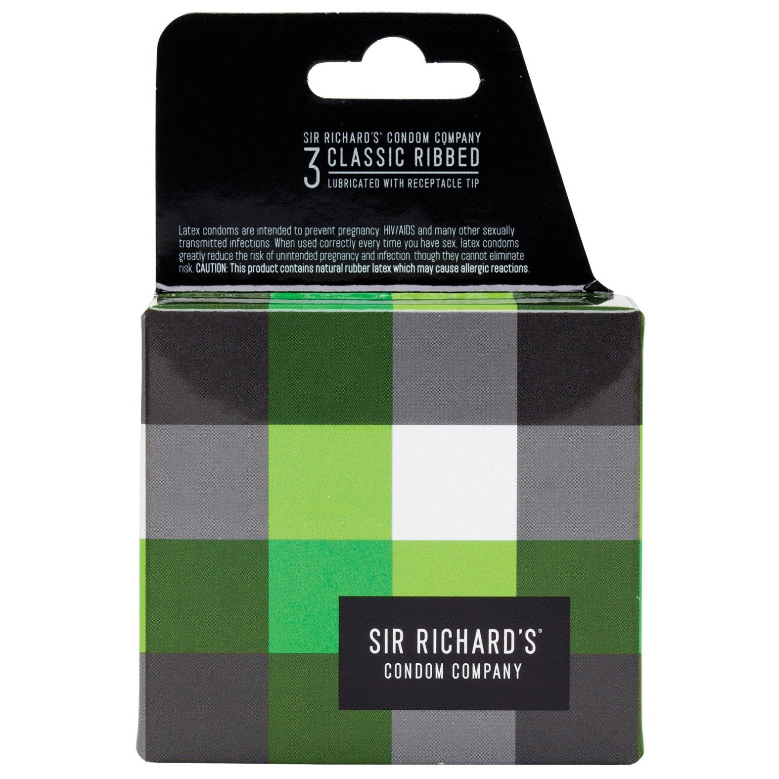 Sir Richard's Classic Ribbed Condom - Pack of 3 - Gay Men's Sex Toys - Adam's Toy Box