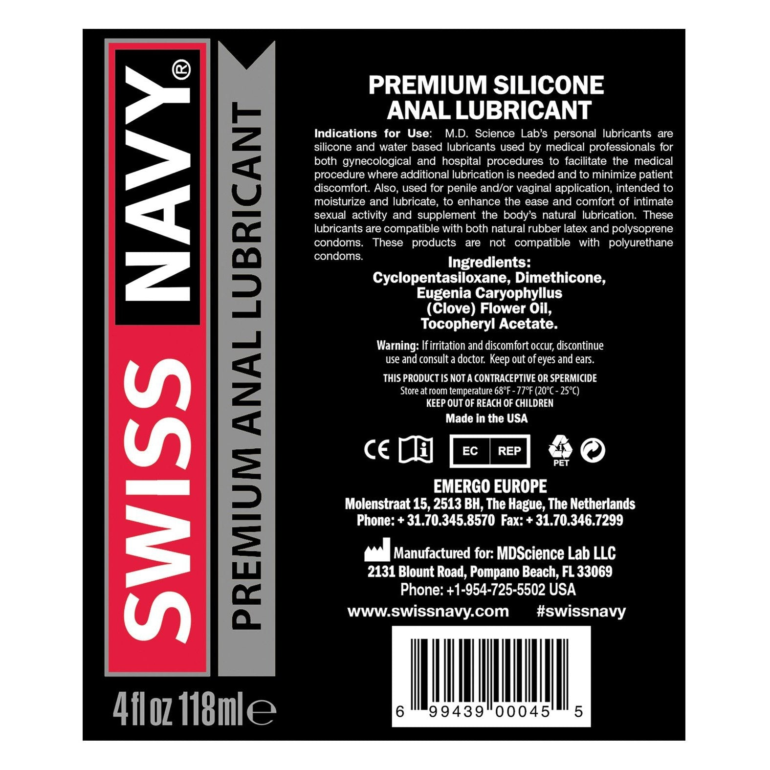 Swiss Navy Silicone Anal Lube - Gay Men's Sex Toys - Adam's Toy Box