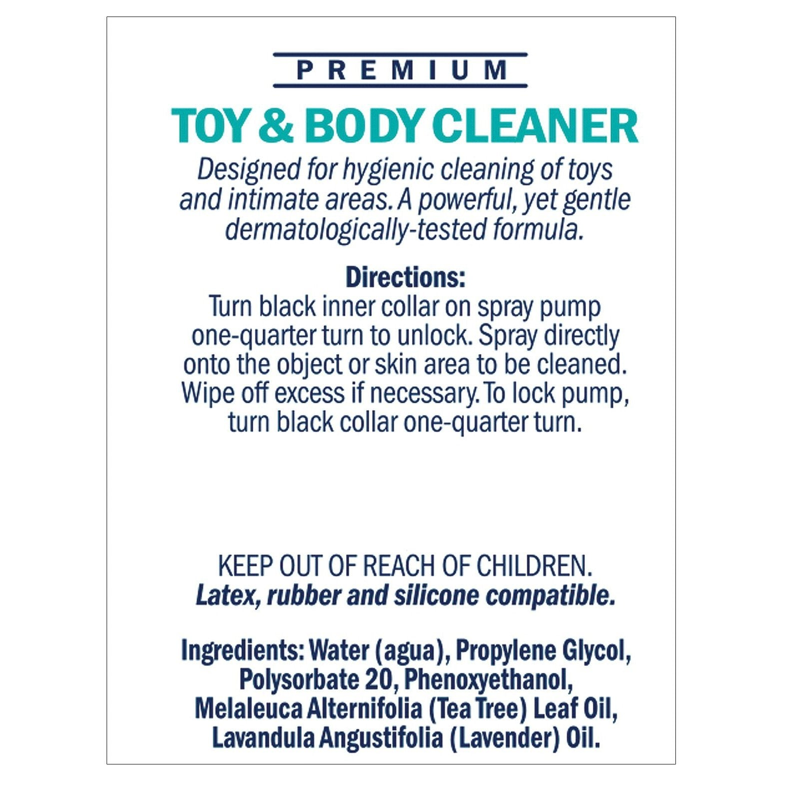 Swiss Navy Toy & Body Cleaner - 6oz - Gay Men's Sex Toys - Adam's Toy Box