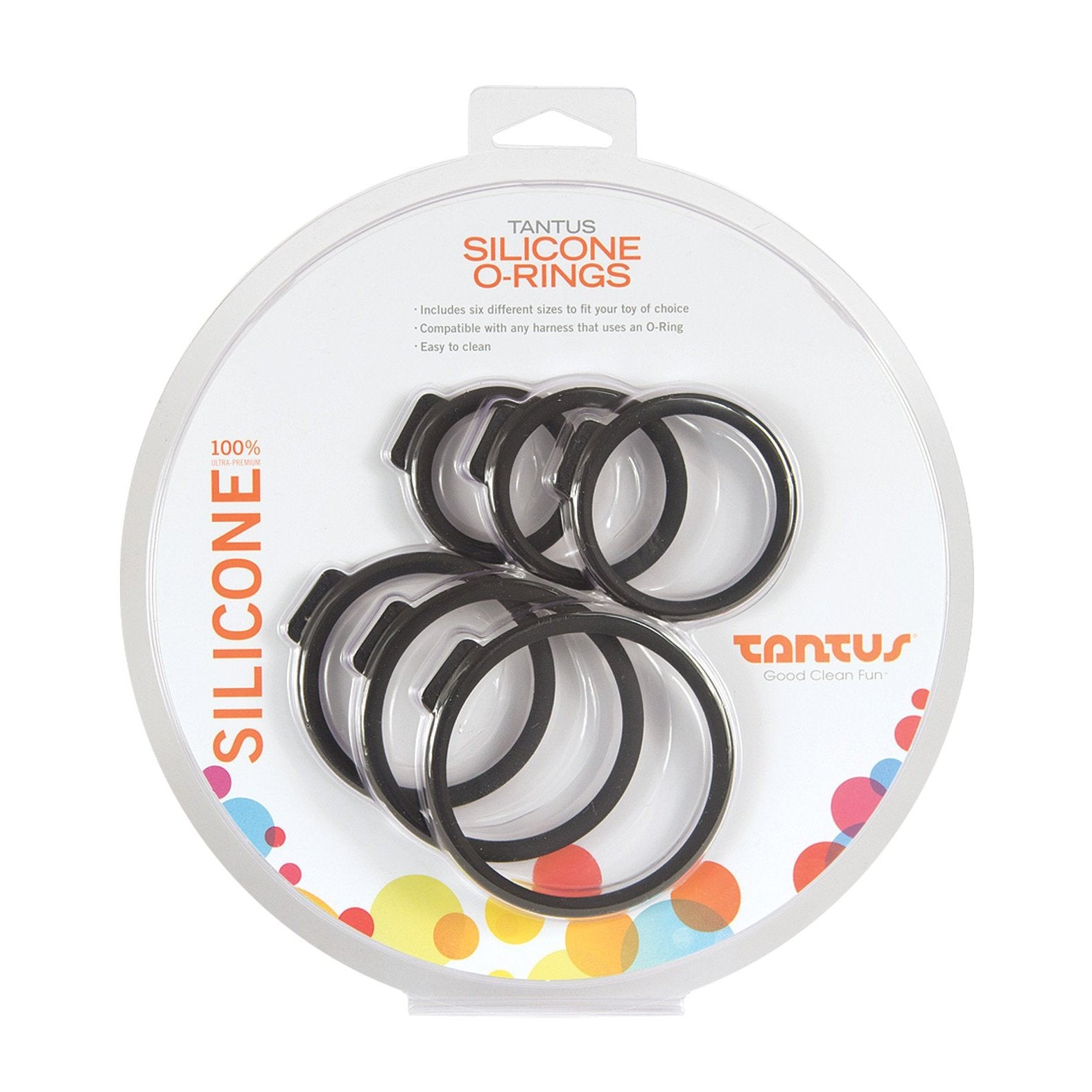 Tantus Silicone O-Rings Set - Pack of 6 - Gay Men's Sex Toys - Adam's Toy Box