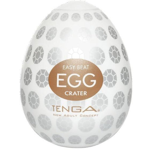 Tenga Hard Gel Egg - Crater - Gay Men's Sex Toys - Adam's Toy Box