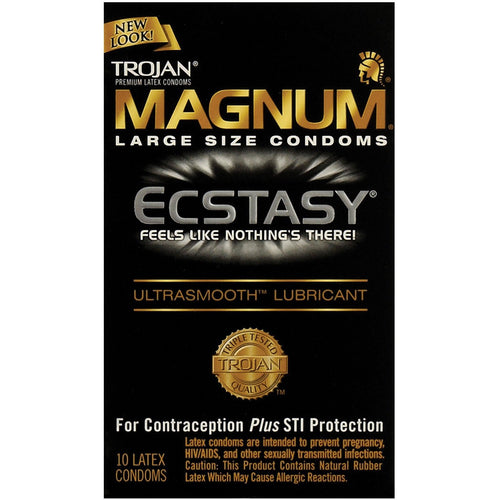 Trojan Magnum Ecstasy Condoms - Box Of 10 - Gay Men's Sex Toys - Adam's Toy Box