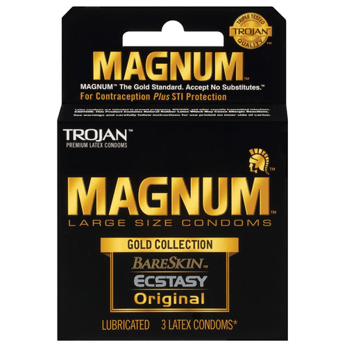 Trojan Magnum Gold Collection - Box Of 3 - Gay Men's Sex Toys - Adam's Toy Box