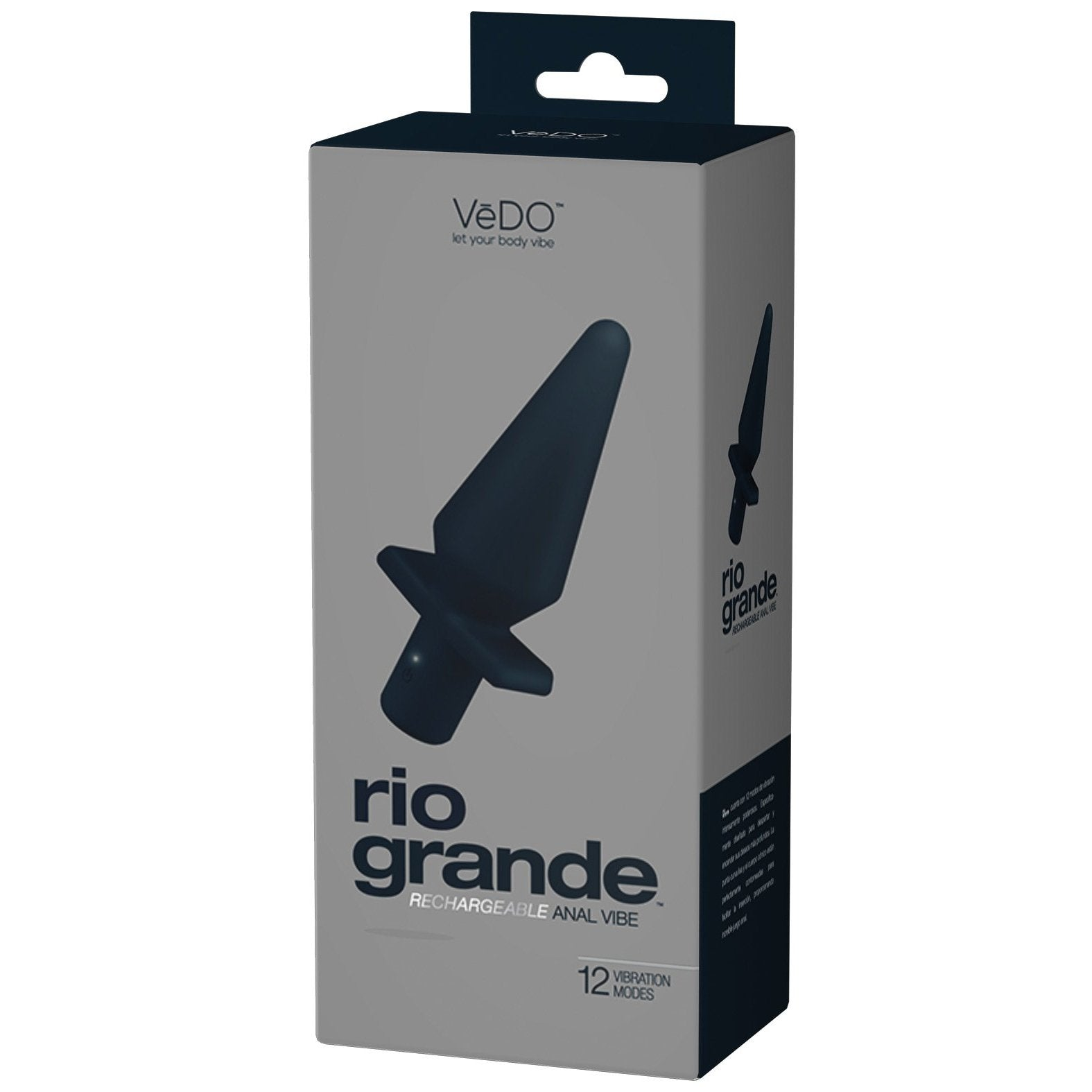 VeDO Rio Grande Anal Vibe - Just Black - Gay Men's Sex Toys - Adam's Toy Box