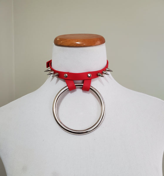 Jett vegan biothane or leather collar